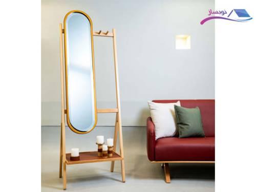 آینه ایستاده چوب طبیعی