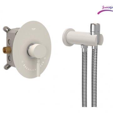 شیرالات توکار توالت مدل روگن Brass